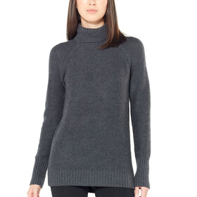 Icebreaker W's Waypoint Roll Neck Sweater Char Heather